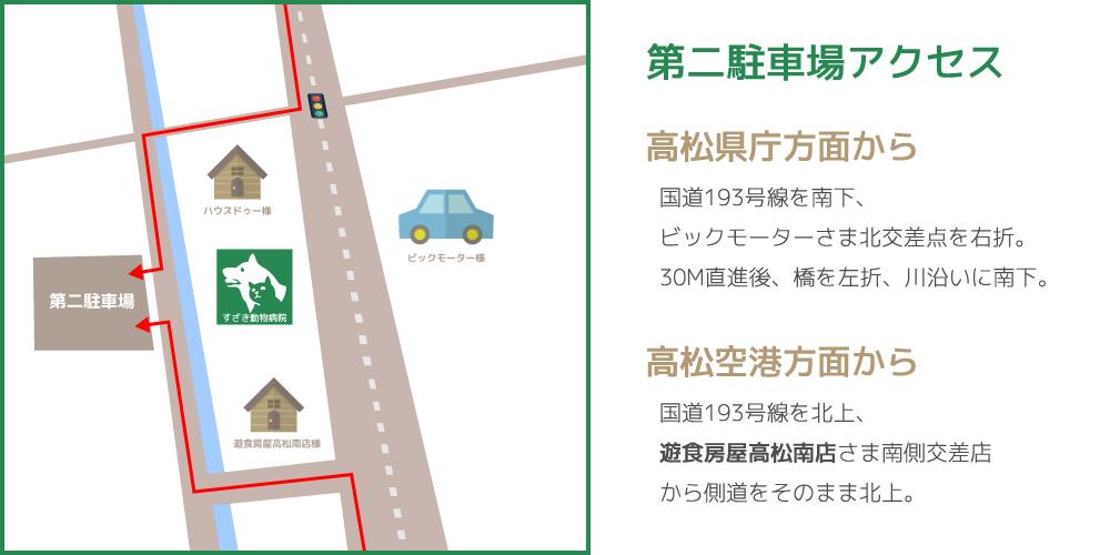 第二駐車場へのアクセス